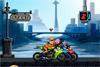Courses de moto avec Naruto