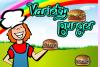 Serveuse de hamburgers