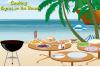 Cuisine des gyros sur la plage