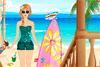 Alicia à la plage