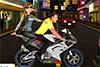 Prête pour une balade à moto