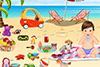Vacances à la plage avec papy et mamie
