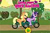 Courses de vélo pour les petits poneys