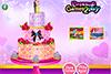 Délicieux gâteau de mariés à décorer