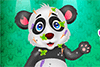 Panda tout sale à laver