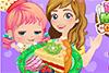 Faire une tarte aux fruits avec maman