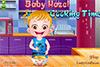Bébé Hazel cuisine