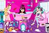 Salle de bain de filles à ranger