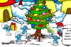 Les schtroumpfs à Noël
