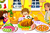 Beau repas de Noël