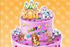 Gâteau d'anniversaire avec des animaux
