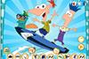 Phineas et Ferb en surfeurs
