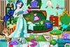Ménage dans la chambre d'une princesse désordonnée.