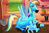 Rainbow dash et son bébé