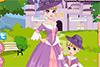 Petite princesse et sa mère habillées pareil
