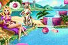 Roxane dans la piscine