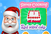 Gâteau red velvet du père-Noël