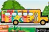 Bus d'école à nettoyer