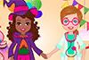 Shelly et son amie déguisées