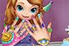 Manucure colorée pour Sophia