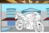 Coloriage d'une moto