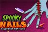Manucure effrayante d'Halloween