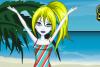 Lola à la plage