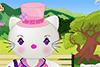Hello Kitty chez la coiffeuse