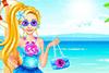 Alicia en vacances à la mer
