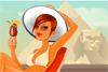 Bain de soleil en Egypte