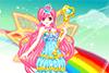 Princesse arc-en-ciel à habiller