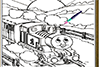 Coloriage de Thomas le train