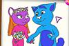 Livre de coloriage de Tom et Angela