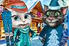Tom et Angela en vacances au ski