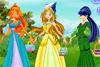 Fées Winx habillées en princesses