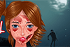 Déguisée en zombie